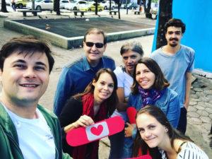 Voluntariado da Corrida Amiga articulando a campanha no Rio de Janeiro